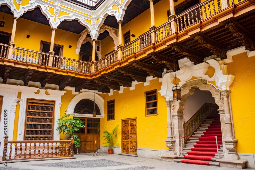 Fototapeta Architecture in downtown Lima, Peru.