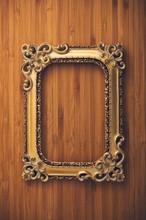 Vintage Portrait Frame On Wood...