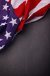 canvas print picture - Closeup of American flag on plain background. USA Memorial Day.
