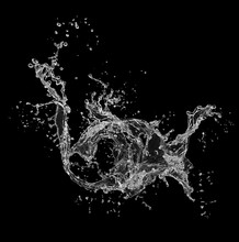 Fresh Water Splash Isolated On...