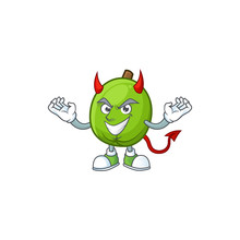 Devil Casimiroa Fruit Cartoon Character With Mascot