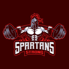 Vector Of Spartan Warrior Mascot