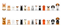 Small Dogs And Cats Border Bor...