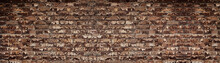Wide Red Shabby Brick Wall Tex...