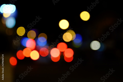Fototapeta Abstract blurred of blue and silver glittering shine bulbs lights background:blur of Christmas wallpaper decorations concept.christmas light night,abstract circular bokeh background. bokeh lights obraz na płótnie