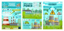 Energy Production, Wind And Water Power Plant