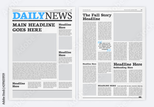 Fotomural Graphical Layout Newspaper Template