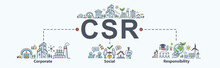 CSR Banner Web Icon For Busine...