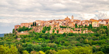 Orte Town Is Situated In The Tiber Valley On A High Tuff Cliff. Historical Cities Of Italy.