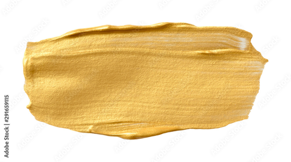 Fototapety, obrazy: Vector golden texture isolated on white - paint banner for Your design