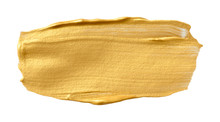 Vector Golden Texture Isolated On White - Paint Banner For Your Design