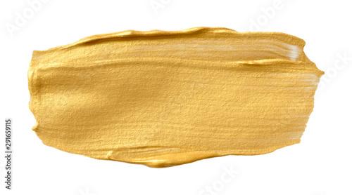 Fototapeta Vector golden texture isolated on white - paint banner for Your design obraz