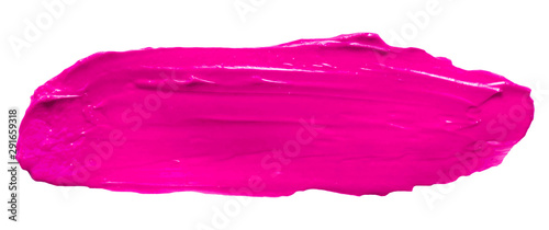 Obraz Vector pink glossy paint texture isolated on white - acrylic banner for Your design - fototapety do salonu