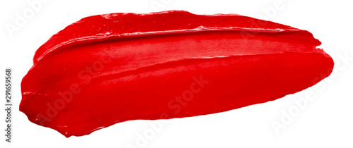 Fotografie, Tablou  Vector red glossy paint texture isolated on white - acrylic banner for Your desi