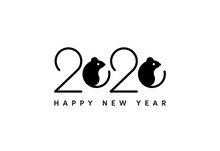 Happy New Year 2020 Logo Icon ...