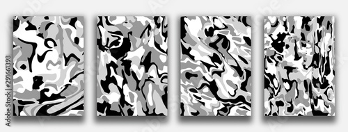 Fotografie, Tablou  Liquid marble textured backgrounds