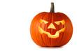 canvas print picture Halloween Pumpkin on white