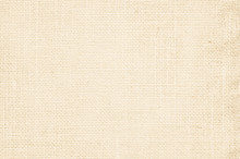 Cream Pastel Texture Background. Haircloth Or Blanket Wale Linen Canvas Wallpaper. Rustic Canvas Fabric Texture In Natural Color. Natural Vintage Linen Burlap Fabric Texture Background.