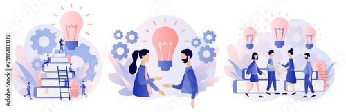 Carta da parati  Creative business idea, content development, brainstorming concept