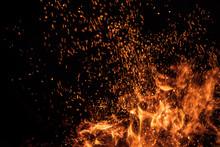 Burning Sparks Flying. Beautif...
