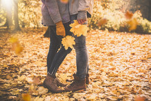 Paar Hintergrund Herbst