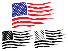 Vector USA Grunge Flag, Painte...