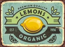 Premium Quality Organic Lemons...