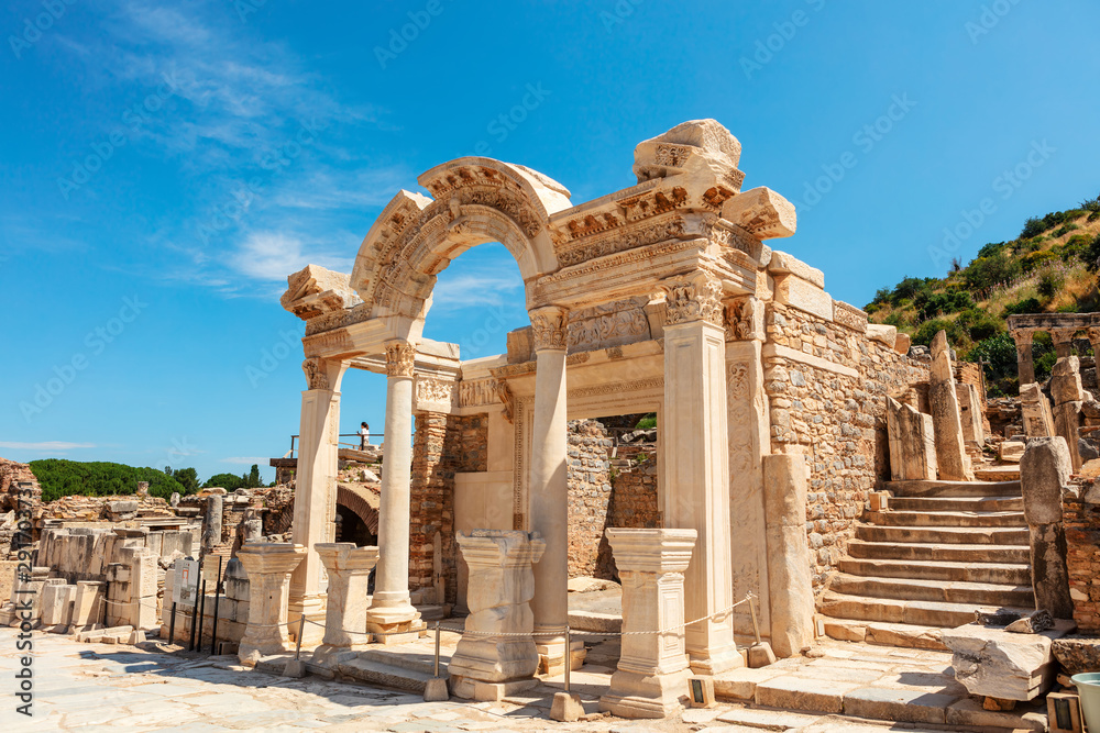 Fototapety, obrazy: Temple of Hadrian at the Ephesus archaeological site in Turkey.