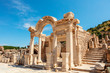 canvas print picture - Temple of Hadrian at the Ephesus archaeological site in Turkey.