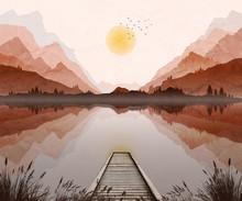 Mountain Landscape Illustratio...