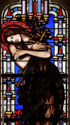 Obraz na płótnie Saint Mary Magdalene, stained glass window from Saint Germain-l'Auxerrois church
