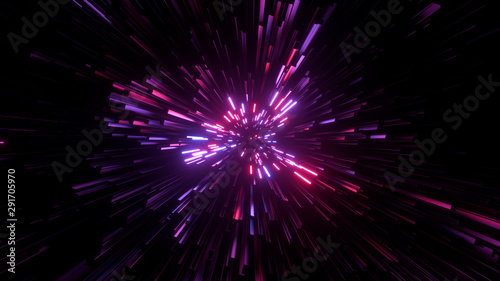 Abstract bright creative cosmic background Wallpaper Mural