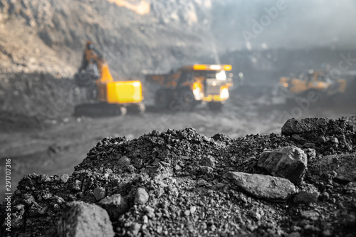 Coal open pit mine Wallpaper Mural