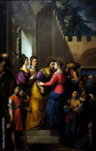 Fototapeta  Altarpiece depicting Visitation of the Virgin Mary, work by Jacopo Ligozzi in Cathedral of St