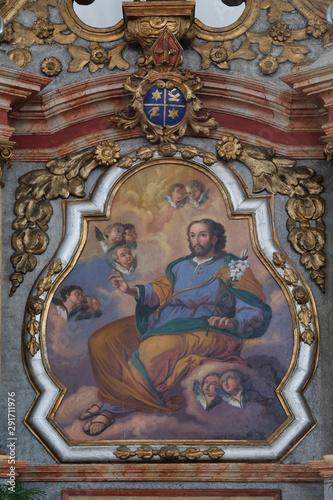 Slika na platnu Saint Joseph, altarpiece in the Church of Assumption of the Virgin Mary in Pokup