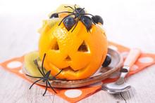 Jack O Lantern With Fruits- Halloween