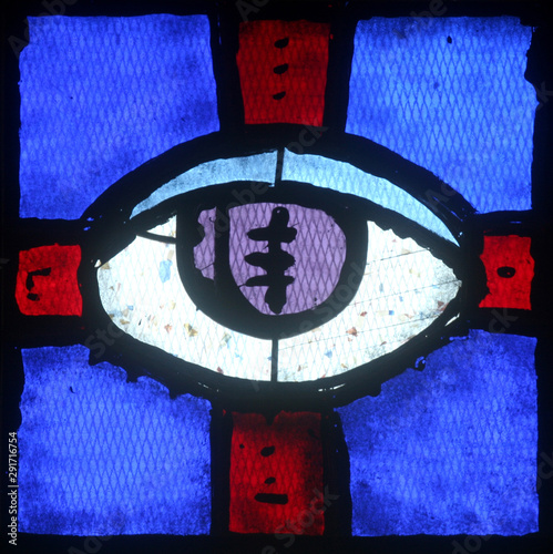 Christian religious symbol - all-seeing eye Fototapet
