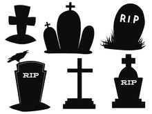 Set Of Gravestones. Collection...
