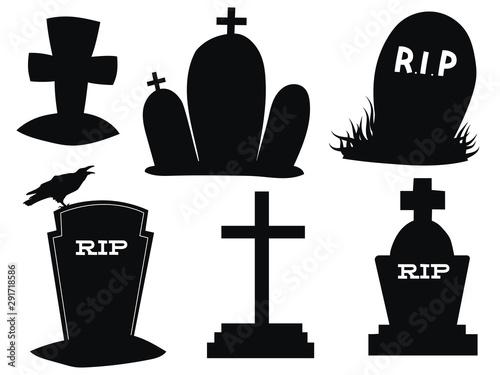 Cuadros en Lienzo Set of gravestones