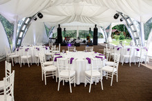 Interior Of A Event Tent Decor...
