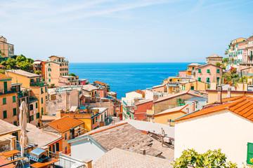 Fototapeta Architektura Riomaggiore in Cinque Terre, Liguria in Italy