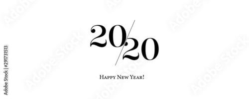 Fototapeta 2020 Logo Happy New Year Background. Brochure Design Template, Poster, Card, Banner. Vector Illustration. obraz