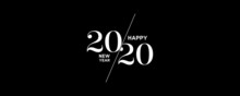 2020 Logo Happy New Year Backg...