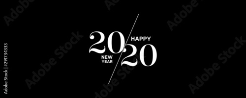 Photo  2020 Logo Happy New Year Background