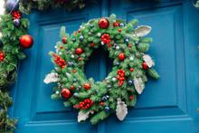 Christmas Decor Of The Front Door.