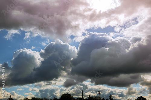 Rain cloud thunderstorm dramatic sky Canvas Print