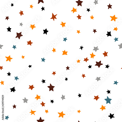 Seamless abstract pattern with stars Wallpaper Mural