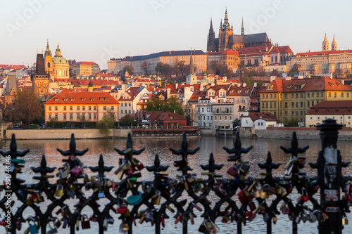 Panorama of Hradcany at sunrise, Czech Republic Wallpaper Mural