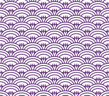 Pattern In Style Of Rugby Ball, Rugby Purple Pattern. Seamless Pattern Included In Swatch.