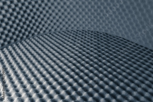 Valokuva  acoustic foam abstract grey background